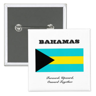 Flag of Bahamas 15 Cm Square Badge