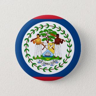 Flag of Belize 6 Cm Round Badge