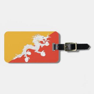 Flag of Bhutan Luggage Tag w/ leather strap