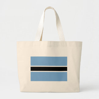 Flag of Botswana - Folaga ya Botswana Large Tote Bag