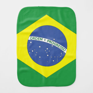 Flag of Brazil Baby Burp Cloth