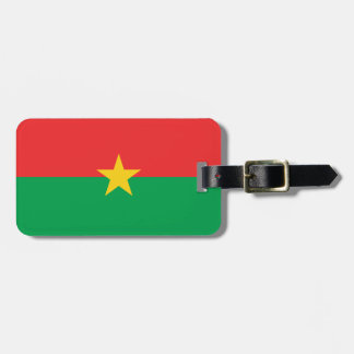 Flag of Burkina Faso Luggage Tag w/ leather strap