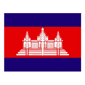 Flag of Cambodia Postcard