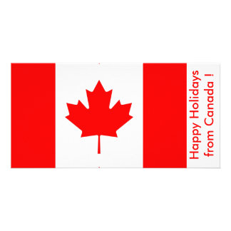 Flag of Canada, Happy Holidays from Canada Personalized Photo Card