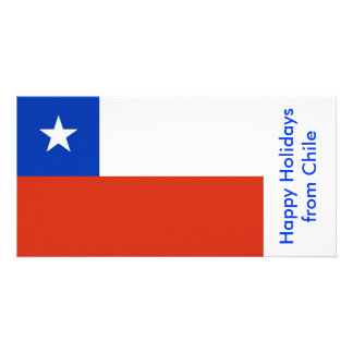 Flag of Chile, Happy Holidays from Chile Picture Card