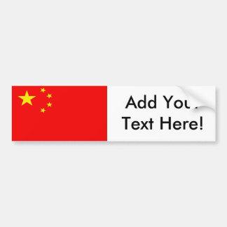 Flag of China Bumper Sticker
