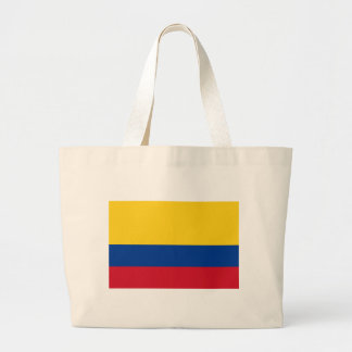 Flag of Colombia - Bandera de Colombia Large Tote Bag