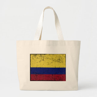 Flag of Colombia Large Tote Bag