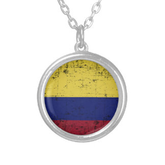 Flag of Colombia Silver Plated Necklace