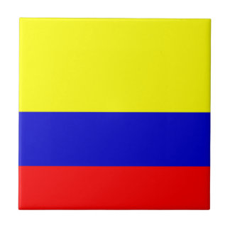 Flag of Colombia Small Square Tile