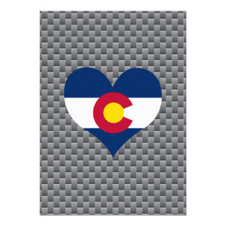 Flag of Coloradan on metal background 13 Cm X 18 Cm Invitation Card