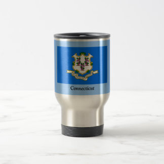 Flag of Connecticut 15 Oz Stainless Steel Travel Mug