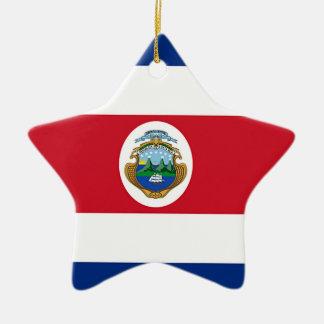 Flag of Costa Rica Christmas Ornament