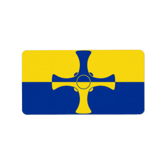 Flag of County Durham, England Labels