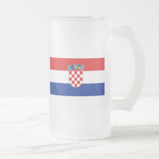 Flag of Croatia Frosted Glass Mug