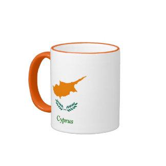 Flag of Cyprus Ringer Coffee Mug