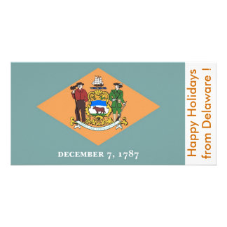 Flag of Delaware, Happy Holidays from U.S.A. Photo Cards