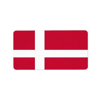 Flag of Denmark Address Label