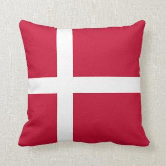Flag of Denmark - Scandinavian cross Throw Pillow