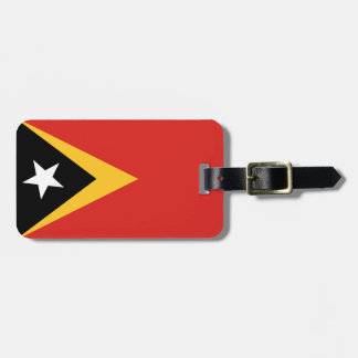 Flag of East Timor Luggage Tag w/ leather strap