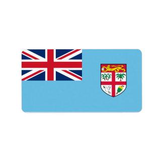 Flag of Fiji Labels