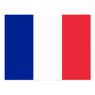 Flag of France; French Flag, Drapeau de la France Postcard