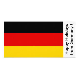 Flag of Germany, Happy Holidays from Germany Personalised Photo Card