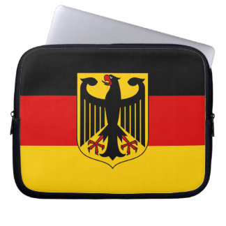 Flag of Germany with Crest Laptop Sleeve