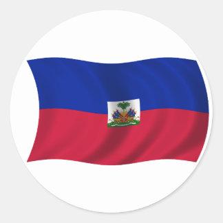 Flag of Haiti Classic Round Sticker