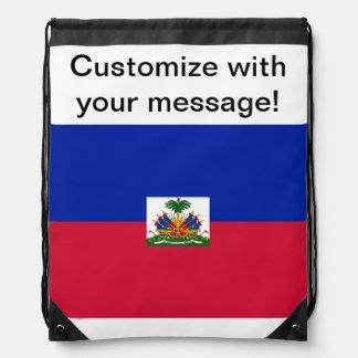 Flag of Haiti Drawstring Bag