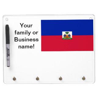 Flag of Haiti Dry Erase Board With Key Ring Holder