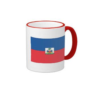 Flag of Haiti Ringer Coffee Mug