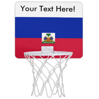Flag of Hati Mini Basketball Hoop