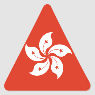 Flag of Hong Kong Bauhinia Blakeana HK Flag Triangle Sticker