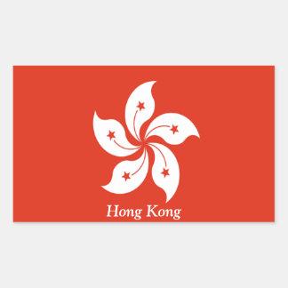 Flag of Hong Kong Rectangular Sticker