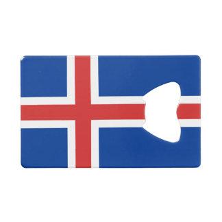Flag of Iceland Credit Card Bottle Opener