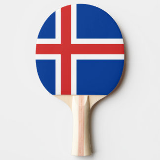 Flag of Iceland Ping Pong Paddle