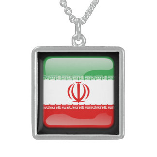 Flag of Iran Sterling Silver Necklace