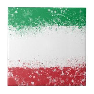 Flag of Italy Ceramic Tile