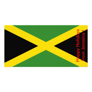 Flag of Jamaica, Happy Holidays from Jamaica Picture Card