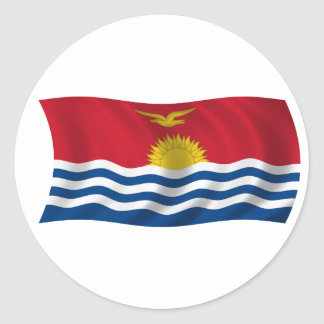 Flag of Kiribati Classic Round Sticker