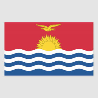 Flag of Kiribati Rectangular Sticker