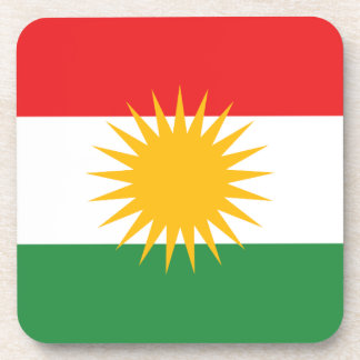 Flag of Kurdistan (Alay Kurdistan or Alaya Rengîn) Coaster