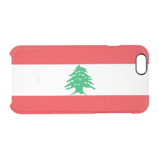 Flag of Lebanon Clear iPhone Case