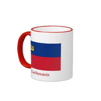 Flag of Liechtenstein Ringer Coffee Mug