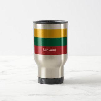 Flag of Lithuania 15 Oz Stainless Steel Travel Mug
