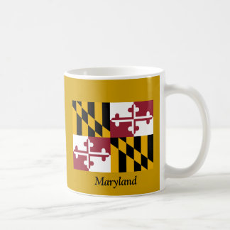 Flag of Maryland Classic White Coffee Mug