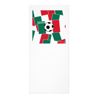 Flag of Mexico Football Personalised Rack Card