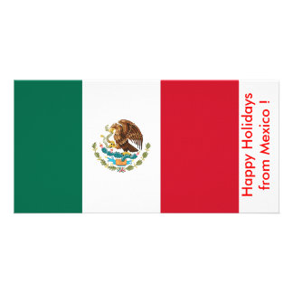 Flag of Mexico, Happy Holidays from Mexico Photo Greeting Card