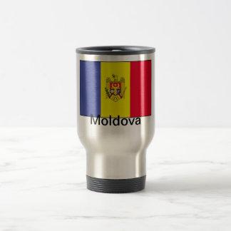 Flag of Moldova 15 Oz Stainless Steel Travel Mug